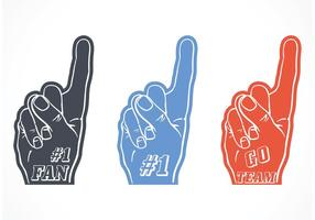 Ensemble de doigts en mousse sans vecteur # 1