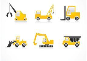 Icônes de vecteur de véhicules gratuits de construction