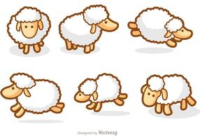 Mignons vecteurs de moutons