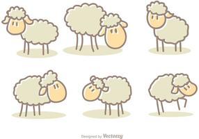 Vecteurs de moutons de dessins animés