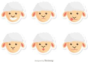 Pack de vecteur de moutons