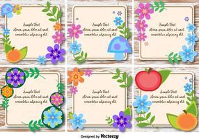 Cadres de texte printaniers et floraux vecteur