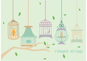 Vecteurs vintage de cages d'oiseaux vecteur