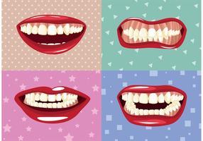 Vecteurs de meulage des dents vecteur