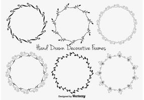 Ensemble de cadre décoratif vecteur