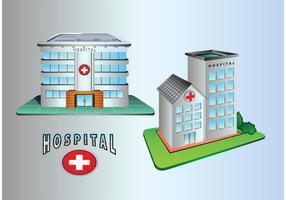 Icônes de construction de l'hôpital vecteur