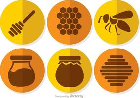 Vecteurs circulaires de miel vecteur