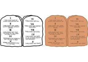 Vecteur gratuit de 10 commandements