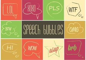 Ensemble de bulle de discours gratuit