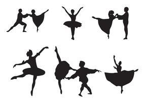 Vecteurs de ballet casse-noisette vecteur