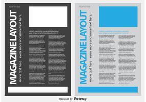 Modèle de Lettre de Magazine / Actualité vecteur