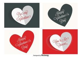 Étiquettes de la Saint-Valentin vecteur