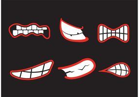 Vecteurs de broyage des dents vecteur