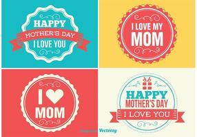Étiquettes de la fête des mères vecteur