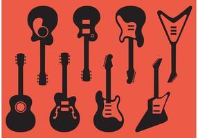 Vecteurs de guitare vecteur