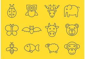 Vecteurs d'animaux décrits vecteur