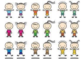 Stick Figure Icon Enfants vecteur