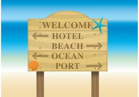 Panneau publicitaire sur la plage