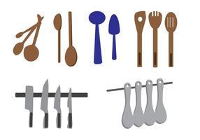 Ustensiles de cuisine vectorielle vecteur