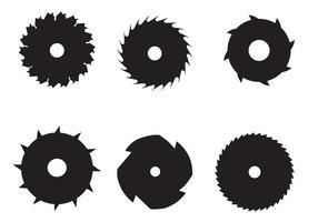 Vecteurs de lame à scie circulaire vecteur