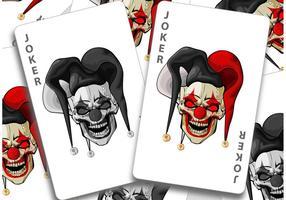Vecteurs de cartes Joker vecteur