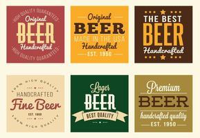 Étiquettes de bière vecteur