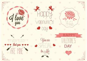 Vecteurs d'étiquettes gratuits pour la Saint-Valentin vecteur