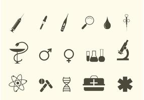 Icônes médicales vectorielles vecteur