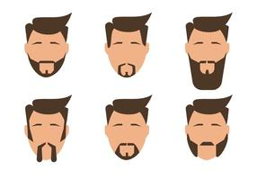 Vecteurs d'hommes barbus