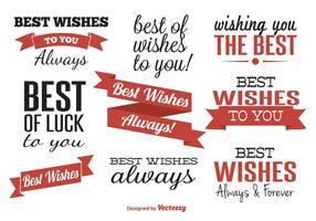 Meilleures Wishes Étiquettes Typographiques