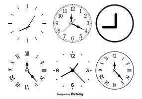 Formes de l'horloge vectorielle vecteur