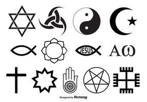 Vecteurs de symboles religieux vecteur