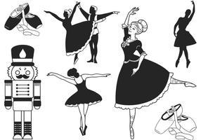 Vector de ballet de noisette gratuit