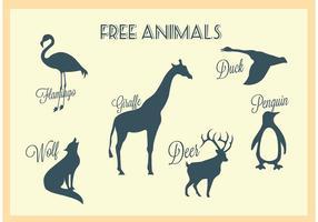 Silhouettes d'animaux vectoriels gratuits