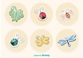 Bugs de dessin animé au printemps vecteur