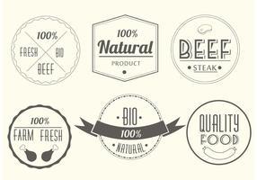 Étiquettes de viande de vecteur gratuites