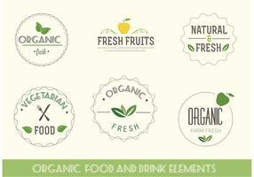 Étiquettes bio et végétarienne vecteur