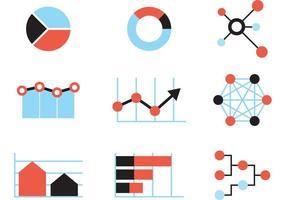 Grands graphiques de données vecteur