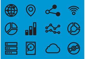 Grandes icônes vectorielles de données