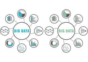 Gros infographies de données vecteur