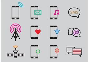 Vecteurs de signaux de téléphones intelligents