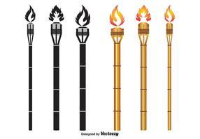 Vecteurs Torch Tiki vecteur