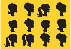 Profil de la tête des silhouettes