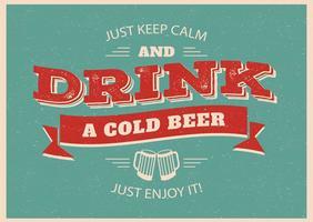 Affiche typographique de la bière vecteur