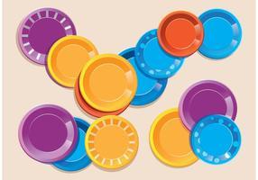 Vecteurs de plaques de papier colorés vecteur