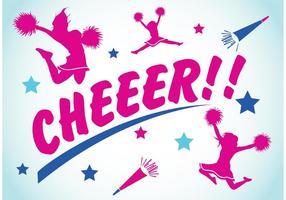 Éléments de cheerleading 2 vecteur