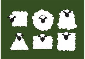Moutons de vecteur isolés