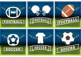 Vecteurs de badge de football et de football