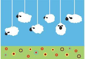 Vecteurs de moutons suspendus