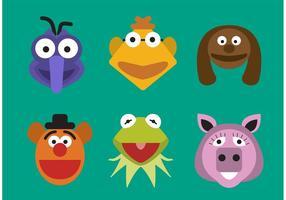 Personnages de muppet vectoriel